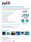 PVF GmbH Flyer MICRON® Sieb Kachelfoto deutsch