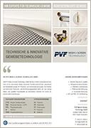PVF GmbH | Flyer TECHNISCHE GEWEBE